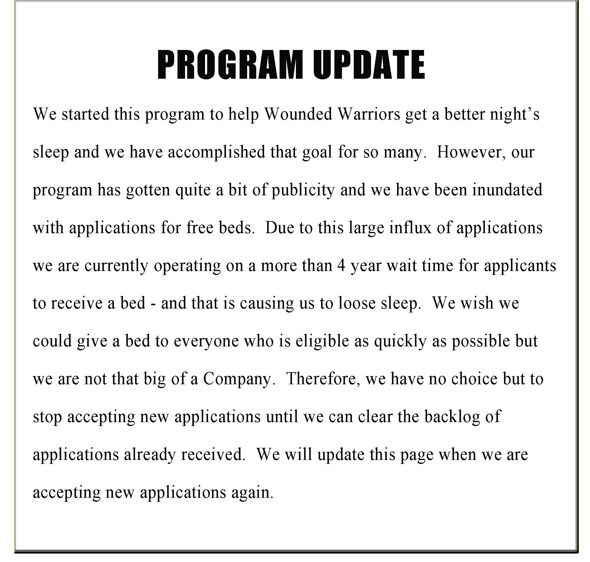 program update 3